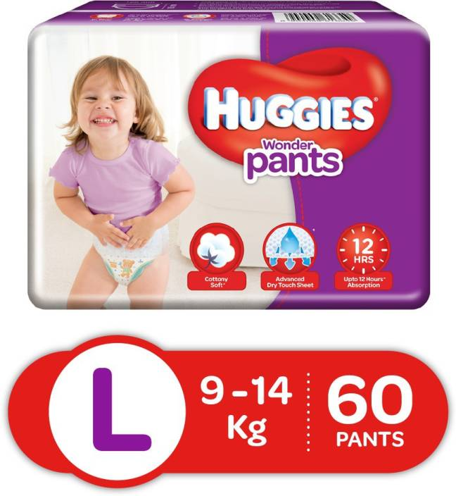 Huggies Wonder Pants Large Size Diapers - L (60 Pieces)