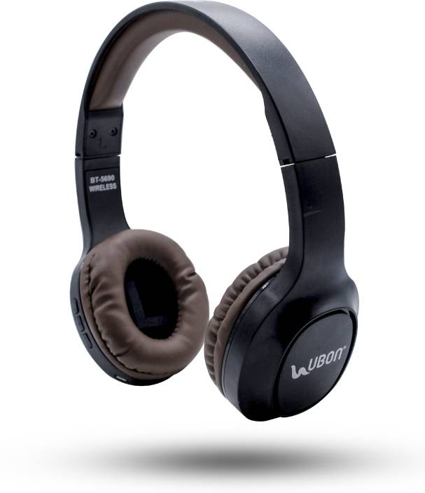 78ae0918d12 Ubon BT-5690 Heavy Bass Wireless / Bluetooth, Wired Headphone (Black, On  the Ear)