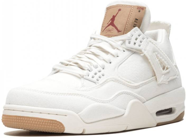 new product 2212f a498f Air jordan LEVI X AIR JORDAN 4 SURFACES IN NEW WHITE COLORWAY Casuals For  Men (White)