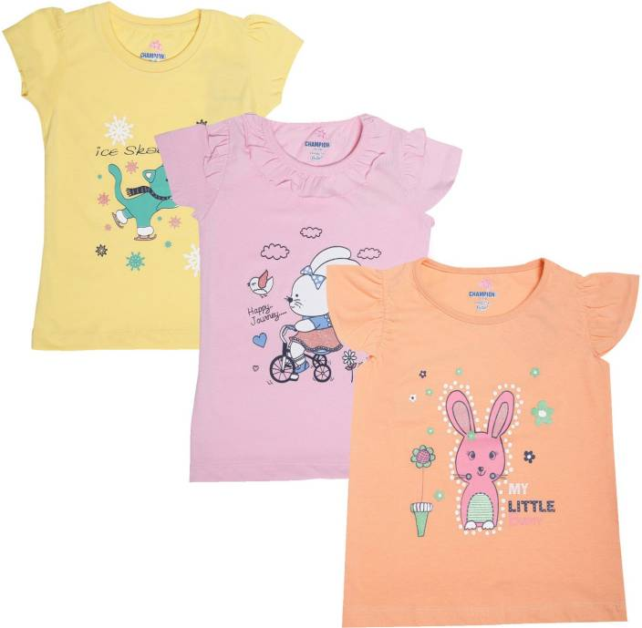 dc40d090c0e Dollar Champion Kidswear Girls Casual Cotton Top Price in India ...