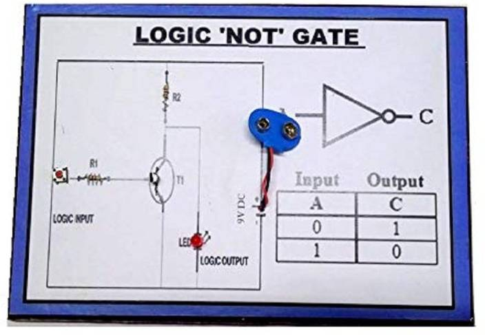 melody's logic 'not' gate physics science working model educational  electronic hobby kit price in india - buy melody's logic 'not' gate physics  science