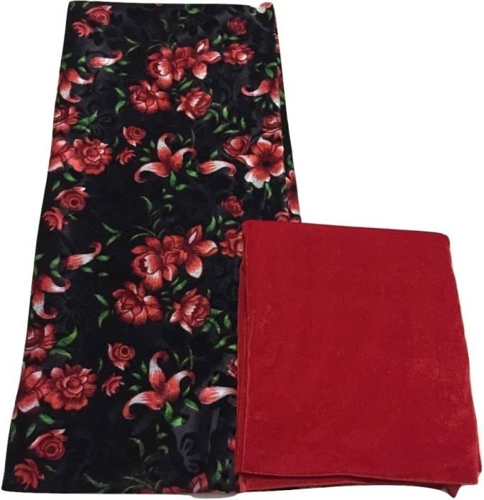 Bkrkj Velvet Floral Print Salwar Suit Material Price In India Buy