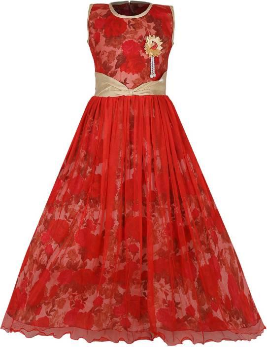 Tiny Toon Girls Maxi/Full Length Party Dress