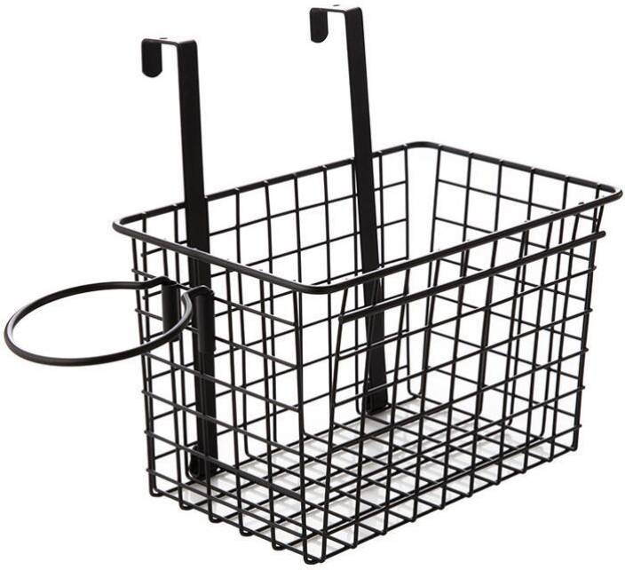 House Of Quirk Over The Cabinet Door Wire Storage Basket With Hair