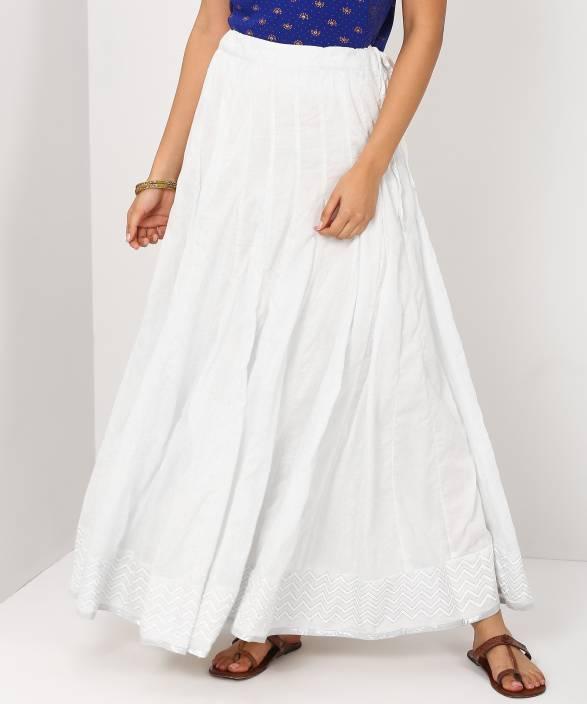 6ac3c62451 Biba Solid Women's Flared White Skirt - Buy Biba Solid Women's Flared White  Skirt Online at Best Prices in India   Flipkart.com