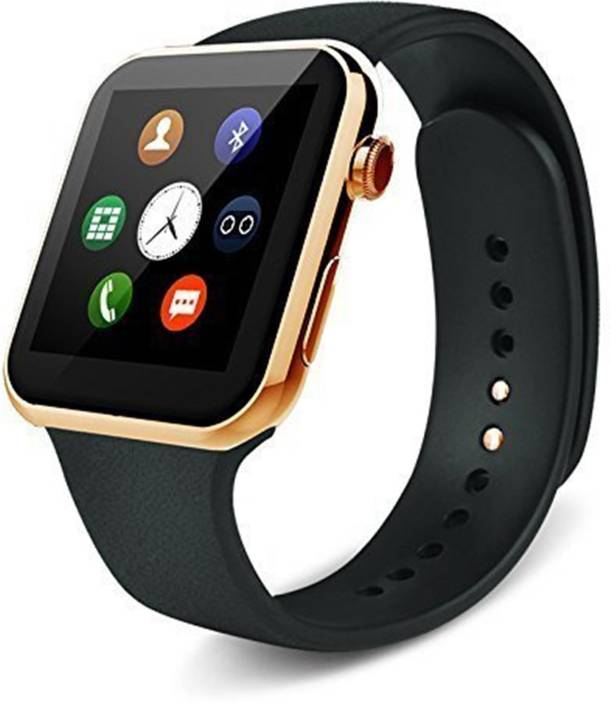 1f3fcc18e21 VELL-TECH Certified Premium Bluetooth Smart Watch with Camera and 256 GB  SIM Card Support for Apple iPhone 7 Plus and Social Apps (Golden