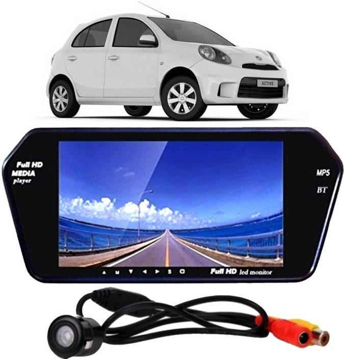 KANDID 7 inch LED HD Rear View Mirror Screen With Bluetooth, USB, SD