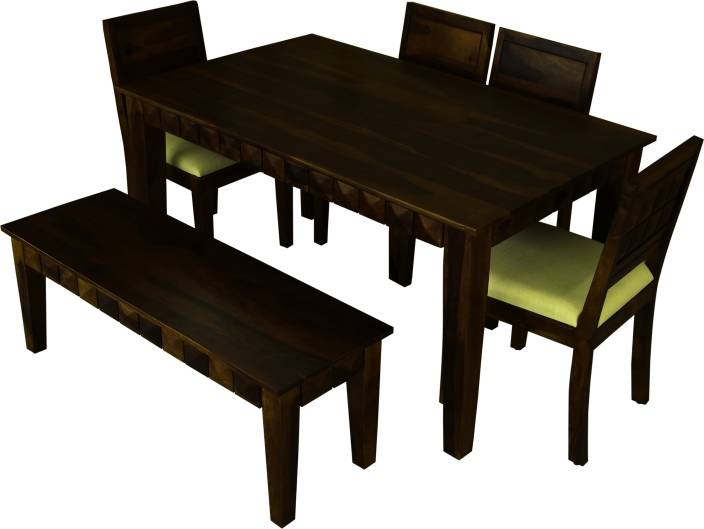 b12305fb35180 Induscraft Diamond Solid Wood 6 Seater Dining Set Price in India ...