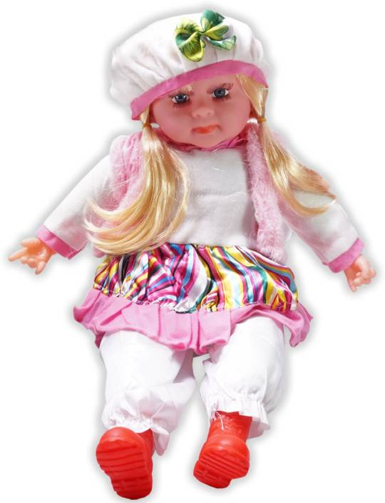 571533fdd Cuddles collections Soft Girl Singing Songs Baby Doll Toy (Multicolor)