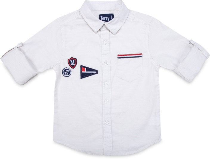Terry fator boys solid casual white shirt buy terry fator