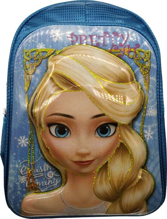Barbie 3D Cinderella Frozen Anna and Elsa Sofia Dora Waterproof Pink School  Bag Backpack for Girls e9f3e7e356b5e