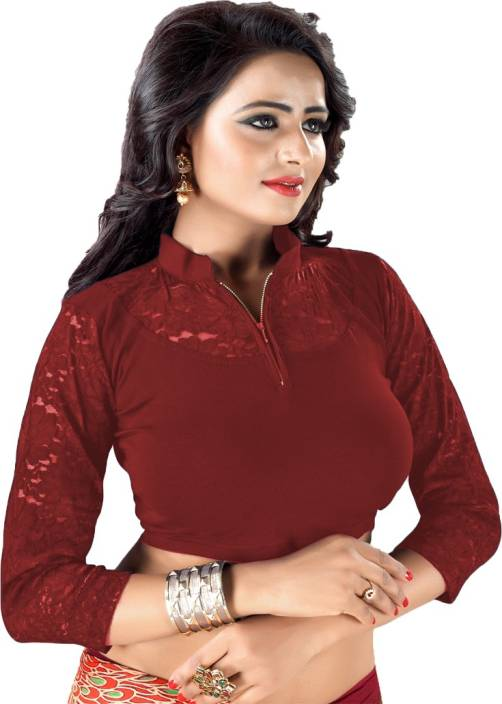 80038207b0b9a GOGURL Round Neck Women Stitched Blouse - Buy GOGURL Round Neck Women  Stitched Blouse Online at Best Prices in India