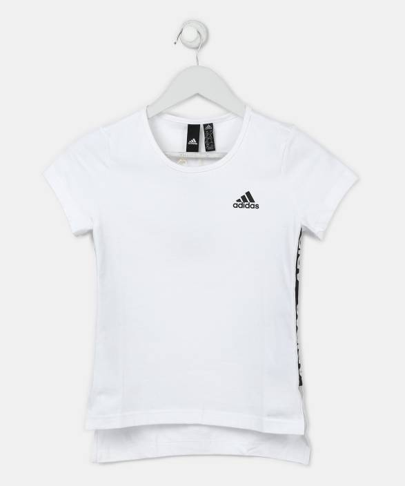 377756d842e2d ADIDAS Girl's Solid Cotton T Shirt Price in India - Buy ADIDAS ...