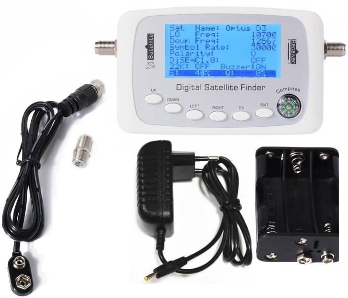 LCD Mini Digital Satellite Finder Meter Signal Strength Dish Sat Directv Compass