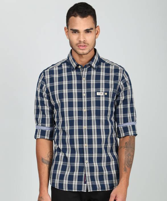 455694fc5 U.S. Polo Assn Men s Checkered Casual Blue Shirt - Buy U.S. Polo Assn Men s  Checkered Casual Blue Shirt Online at Best Prices in India