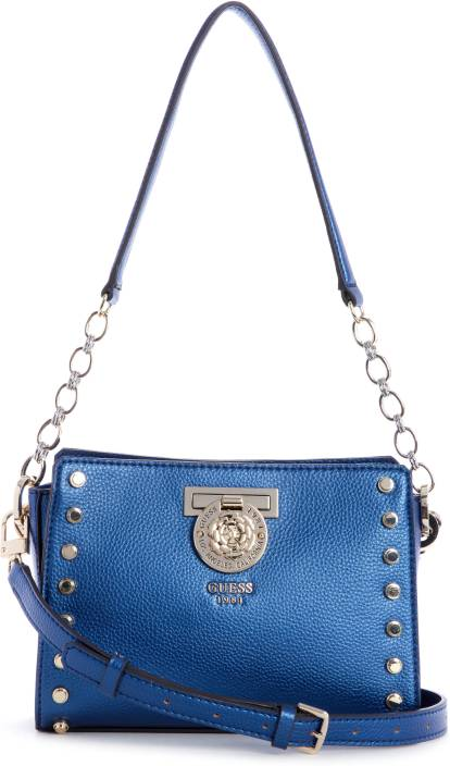 1388b5bc5590 Guess Women Casual Multicolor PU Sling Bag MIDNIGHT - Price in India ...