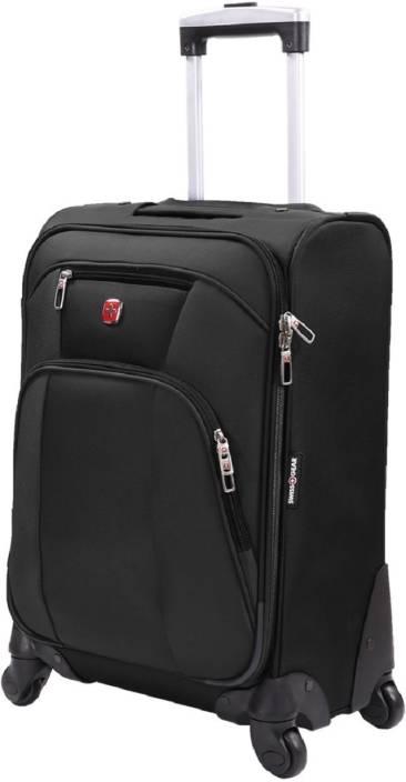 "Swiss Gear 19.5"" SPINNER VPM BLACK Cabin Luggage - 20 inch"