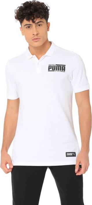 04ed3e3e3f2 Puma Printed Men Polo Neck White T-Shirt - Buy Puma Printed Men Polo Neck White  T-Shirt Online at Best Prices in India | Flipkart.com