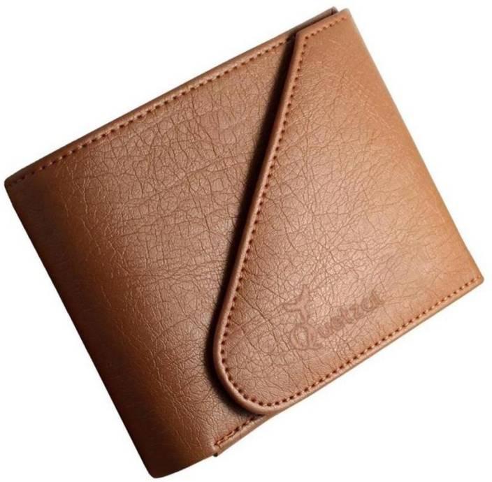 Quetzal Men Casual Tan Genuine Leather Wallet