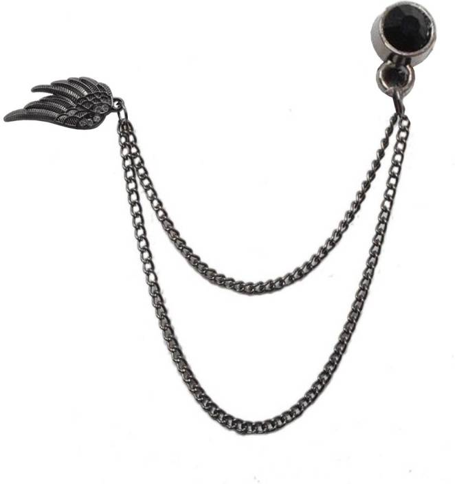 Sullery Feather Shape Chain Shirt Tassels Accessories