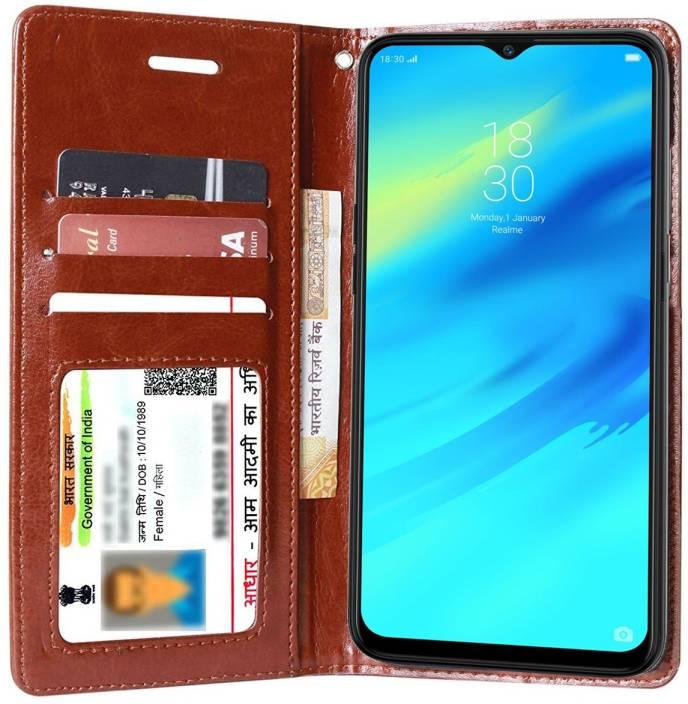 hot sale online c8ca1 81e95 Flipkart SmartBuy Flip Cover for Realme 2 Pro
