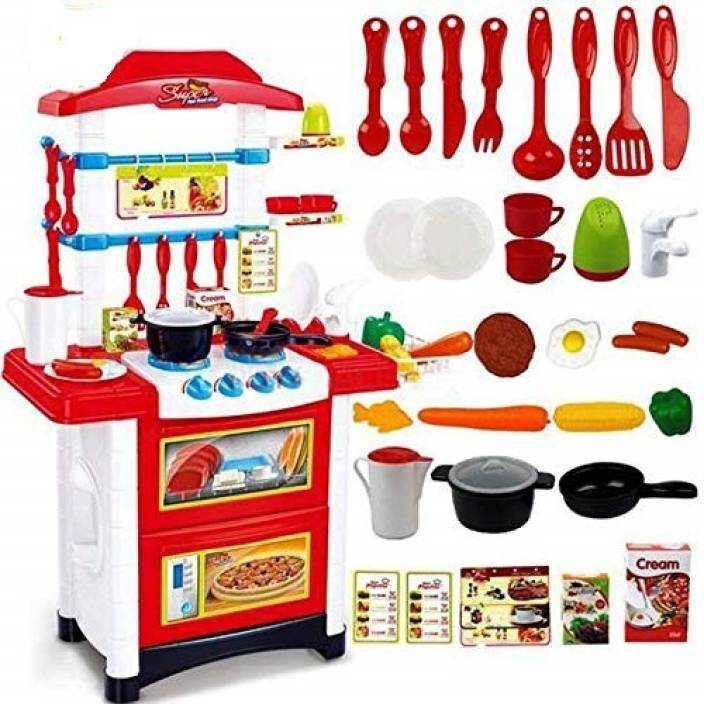 Baybee Battery Operated Kids Kitchen Set Kitchen Sets Of Kids Baby