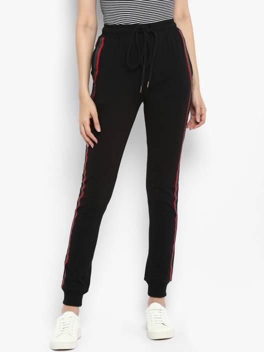 fc1380e5f7988 Lady Stark Colorblock Women Black Track Pants - Buy Lady Stark ...