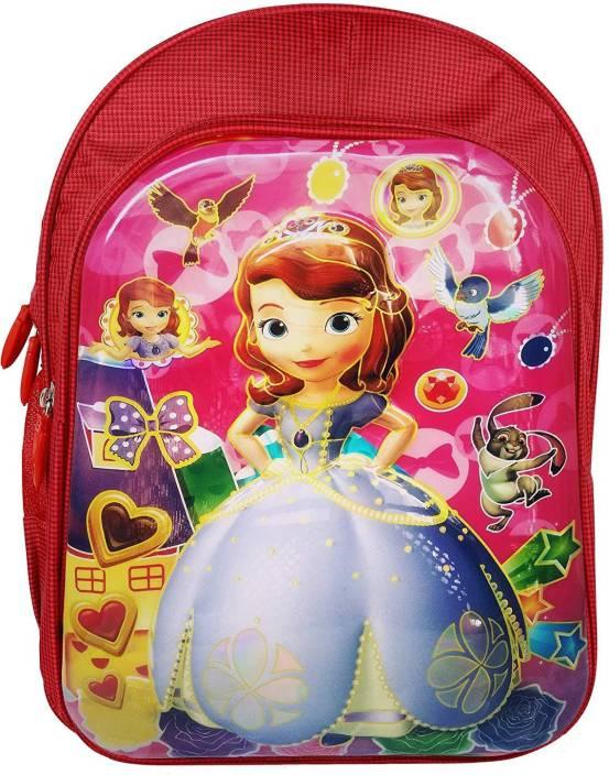 a98bcd1bb89 Tinystar Disney Princess Sofia Kids 3D Lightweight Waterproof School Bag  (Red