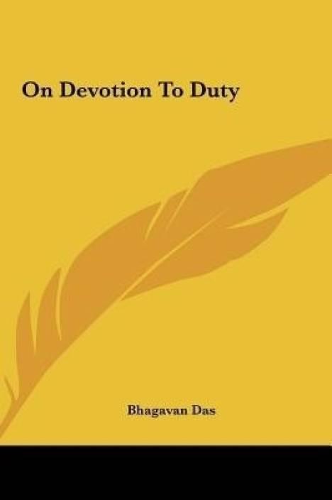edf938b5919e On Devotion to Duty  Buy On Devotion to Duty by Das Bhagavan at Low ...