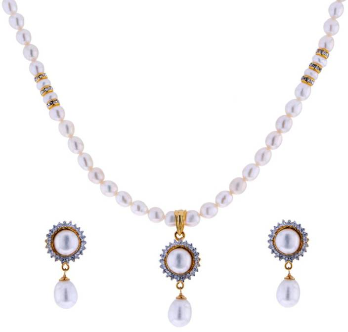 9b698cad07e91 Sri Jagdamba Pearls Mother of Pearl Jewel Set Price in India - Buy ...