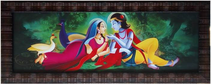 Art Collection Lord Krishna Radha Painting With