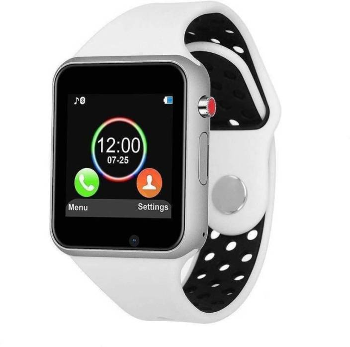 ab00ae2e44a MOBIMOX mobmox A1 Smart watch Bluetooth Smartc WHITE Smartwatch (White  Strap Regular) white Smartwatch (White Strap Free)