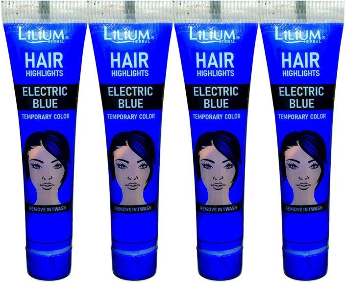 Lilium Herbal Hair Highlights Electric Blue Temporary Color
