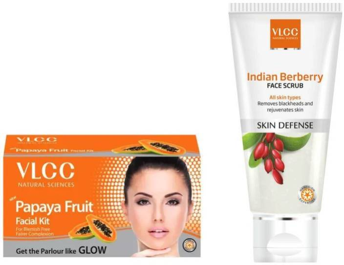 VLCC Papaya Fruit Facial Kit, Indian Berberry Face Scrub Personal Care Appliance Combo  (Face Epilator)