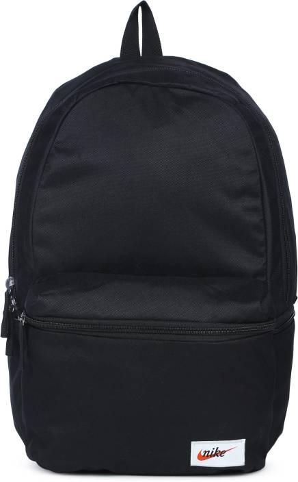 Nike NK HERITAGE BKPK - LABEL 26 L Backpack Black - Price in India ... 6e12240db25a5