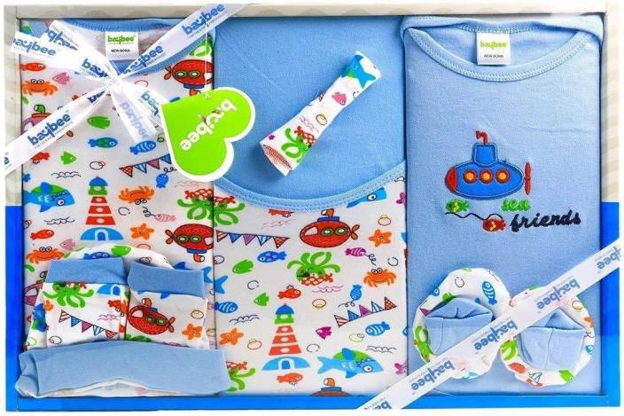 9efe69f13f195 GoodLuck Baybee 8 PCs Gift Set for New Born Babys- Boys & Girls Clothes set  Suitable for 6 to 12 Months