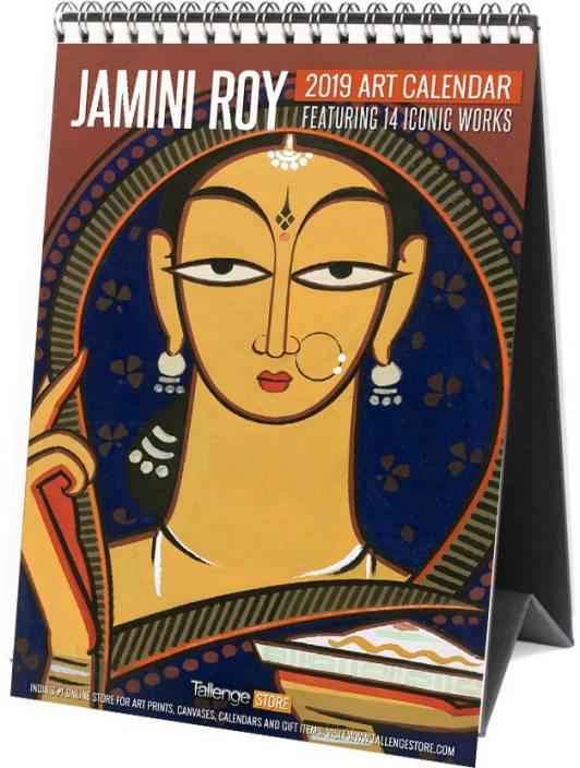 Calendar 2020 Online India Tallenge Indian Artist   Jamini Roy 2019   2020 Table Calendar