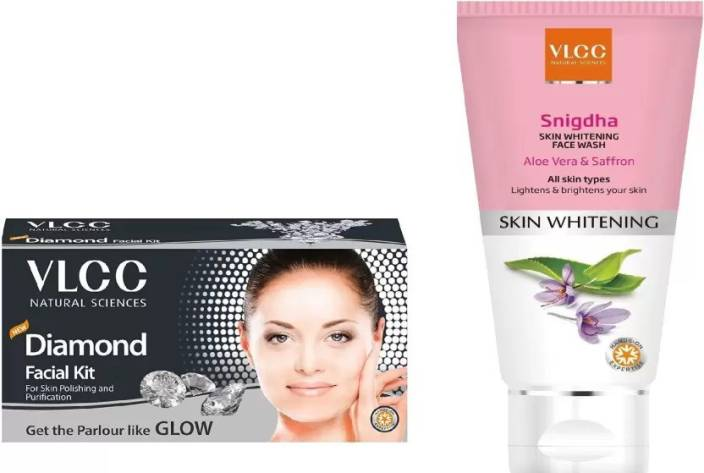 VLCC Diamond Facial Kit, Snigdha Skin Whitening Face Wash Personal Care Appliance Combo  (Face Epilator)