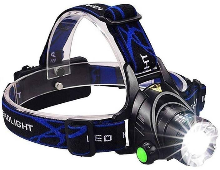 d312a0c13b MOHAK MH-3125 LED Flash Head Torch Atomic Beam Waterproof Tough Grade  Tactical Headlight Atomic Beam LED Headlamp Torch (Black   Rechargeable)