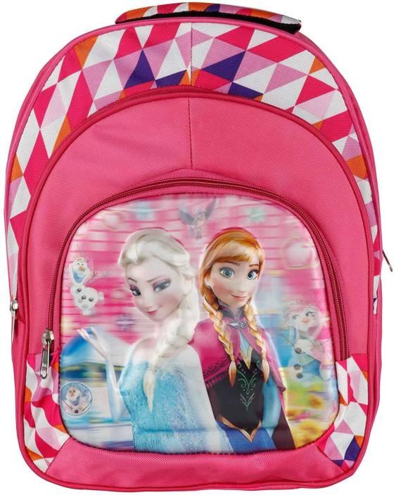 93842e4446f Tinystar Disney Princess Frozen Kids 3D Effect Fabric Lightweight 14 Inches  Waterproof School Bag (Pink
