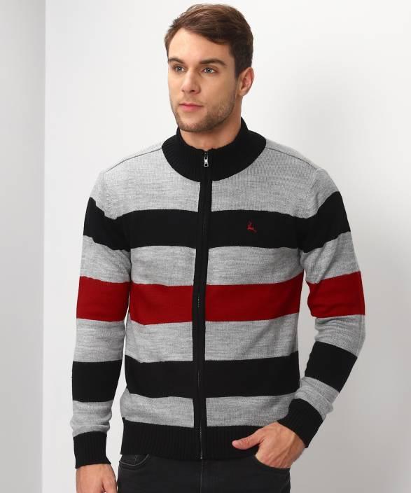 4af042f6b5b Parx Striped High Neck Casual Men s Multicolor Sweater - Buy Parx ...