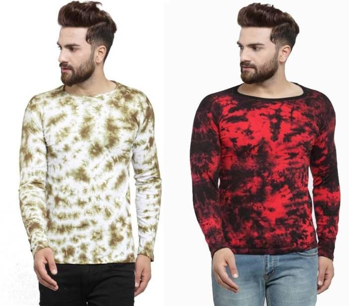 Rebozo Graphic Print Men's Round Neck Multicolor T-Shirt