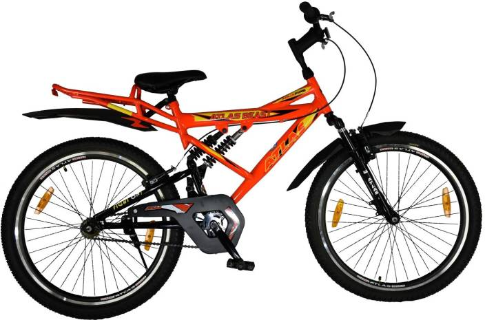 029f84cc68d Atlas Beast IBC Triple Shox Bike For Adults Orange 26 T Mountain Cycle  (Single Speed, Multicolor)