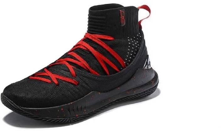356495daff5 The Under Armour UA Curry 5 Black Red Basketball Shoes For Men - Buy ...