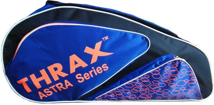 c0a06e8bf Thrax Astra Series Badminton Kit Bag Black and Blue Badminton Kit bags (Blue