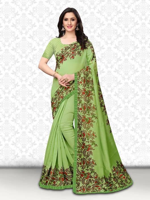 Divastri Floral Print Fashion Art Silk Saree