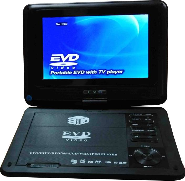 13-HI-13 3D Portable EVD/DVD Player With TV Tuner/Card