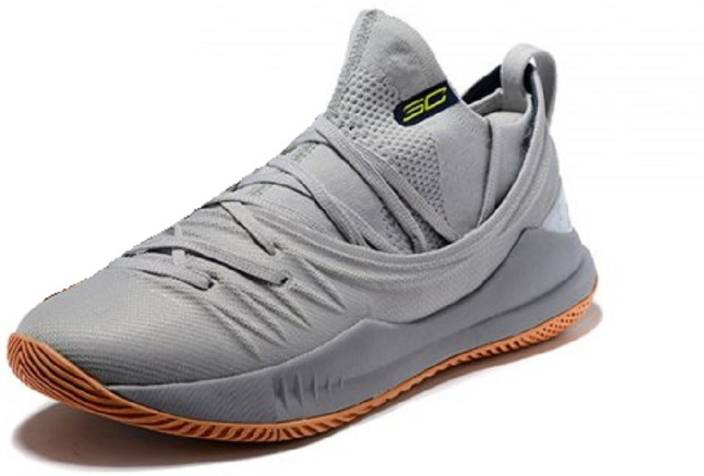 3e4e903256d The Under armour UA Curry 5 Low Grey Basketball Shoes For Men - Buy ...