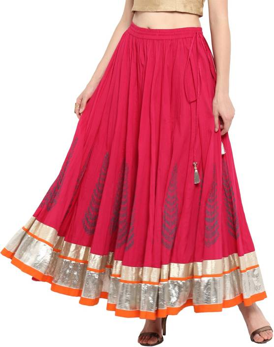 3a3147819f Varanga Embroidered Women's Flared Pink Skirt - Buy Varanga ...