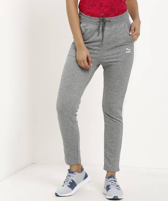 14040764b6d8 Puma Solid Women s Grey Track Pants - Buy Puma Solid Women s Grey Track  Pants Online at Best Prices in India